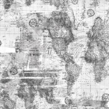 Papel de parede mapa cinza...