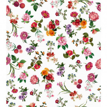 Papel de parede floral...