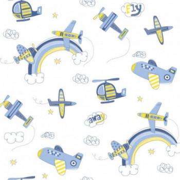 Papel de parede avião azul...