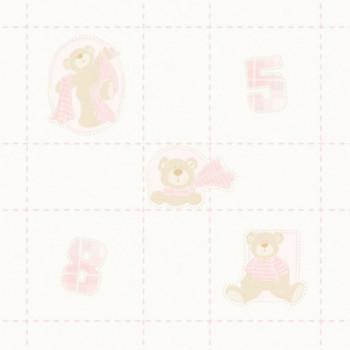 Papel de parede ursos rosa...